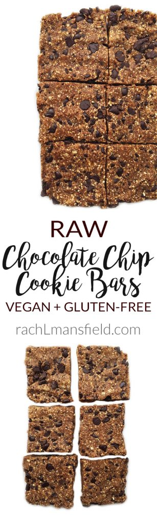 5-ingredient Raw Chocolate Chip Cookie Bars