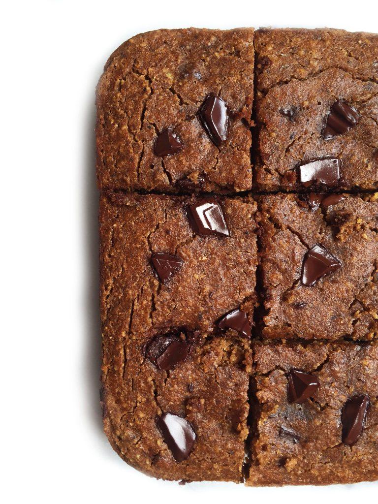 Grain & Dairy-free Double Chocolate Chunk Banana Bread Bars