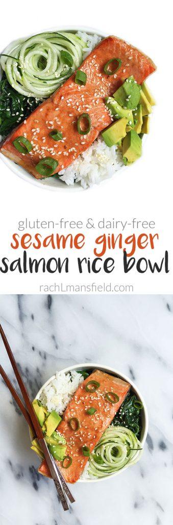 Sesame Ginger Salmon Rice Bowl