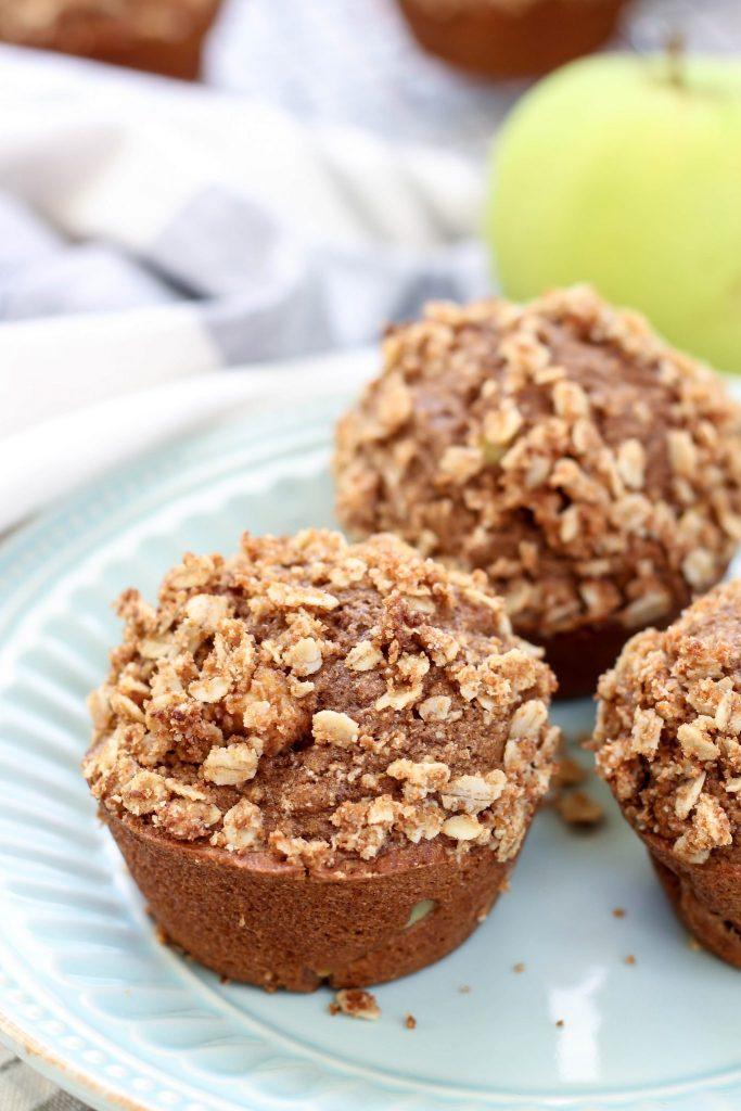 Whole Wheat Cinnamon Apple Muffins
