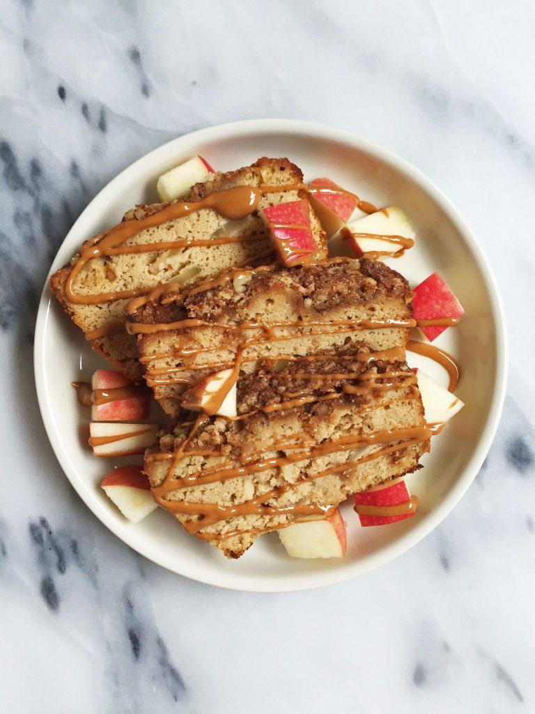 Deliciously Easy Paleo Cinnamon Apple Streusel Bread