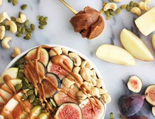 Autumn Breakfast Bowl with Pumpkin Almond Butter