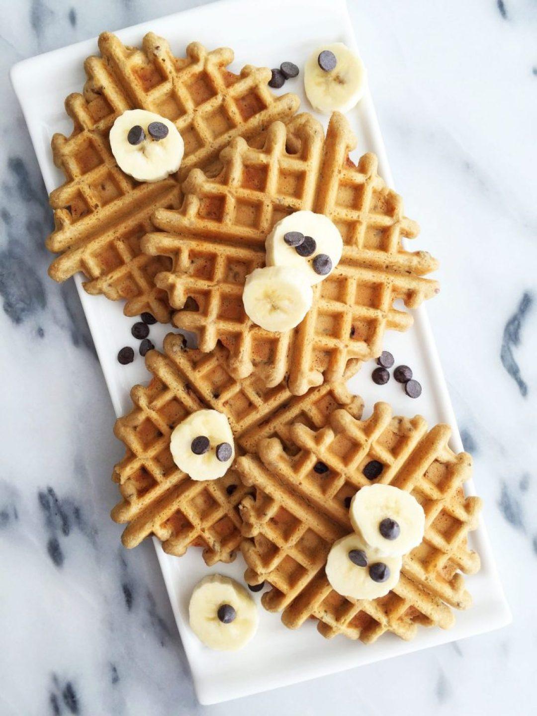 Grain & Dairy-free Flaxseed Chocolate Chip Waffles