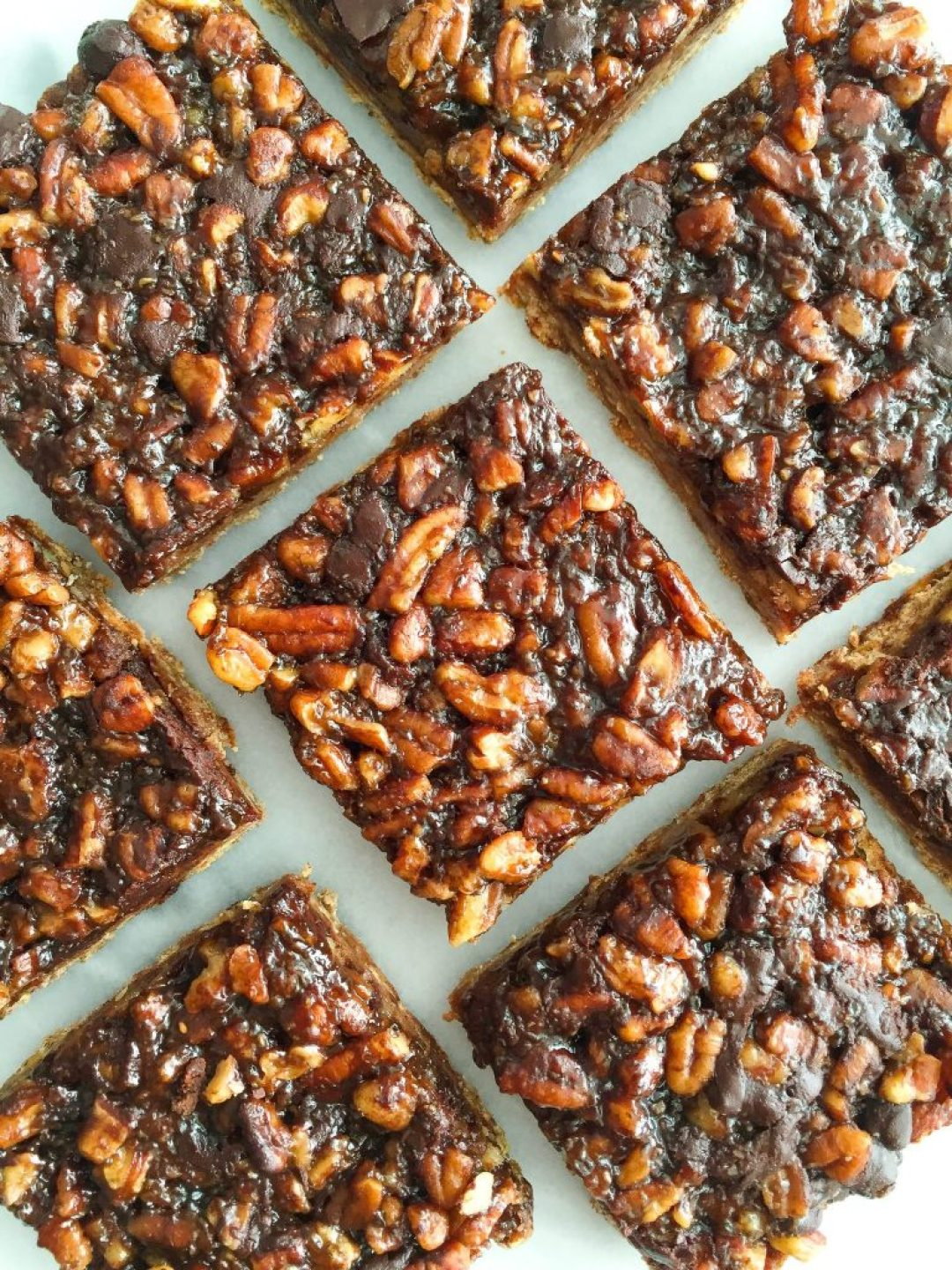 Dark Chocolate Pecan Pie Bars that are gluten and dairy-free and a delicious holiday dessert