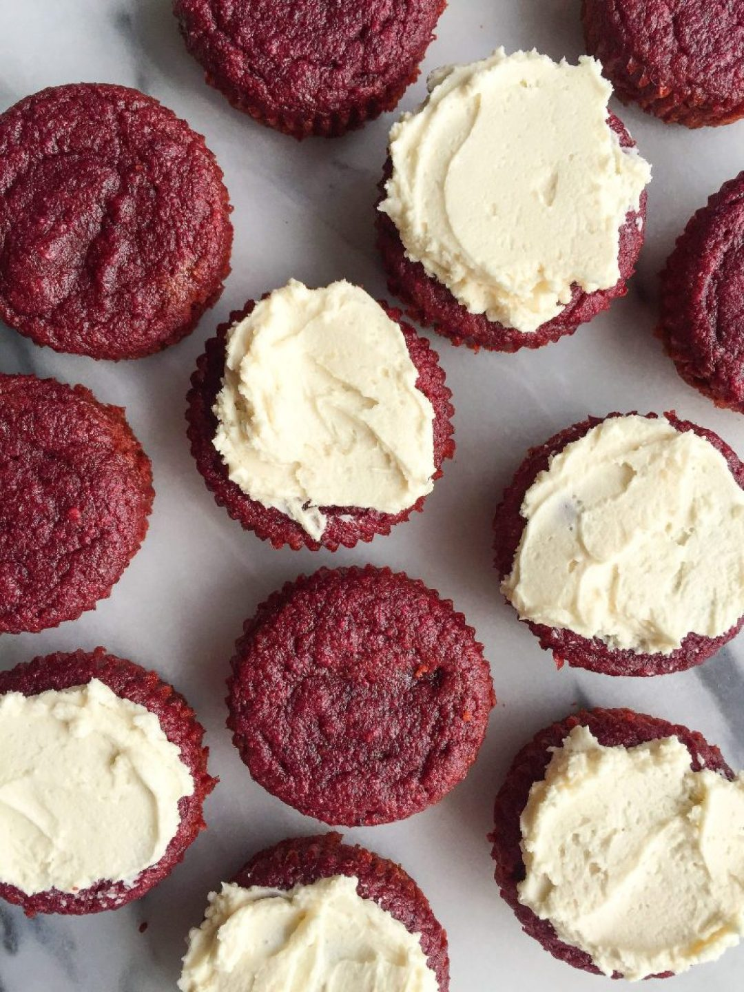 Healthy Homemade Red Velvet Cupcakes made grain, gluten & dairy-free!
