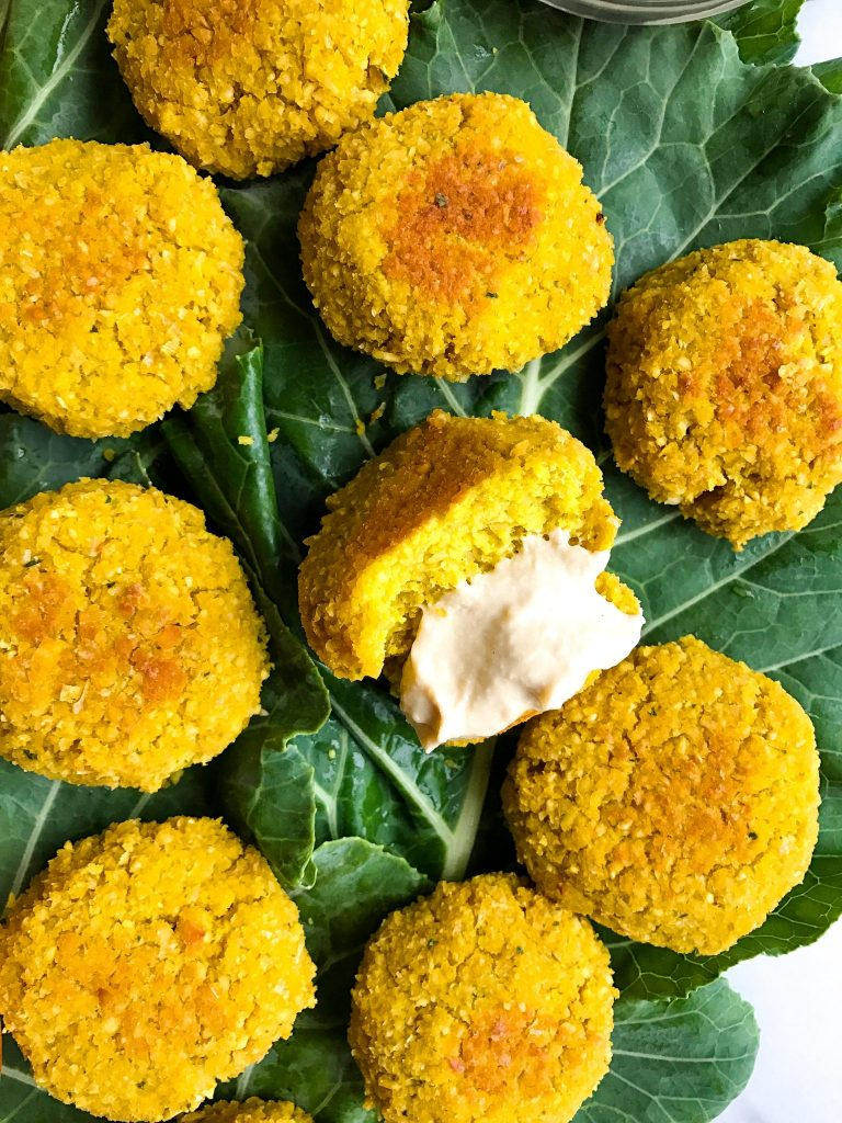 Super Simple Turmeric Falafel that is vegan and grain-free!