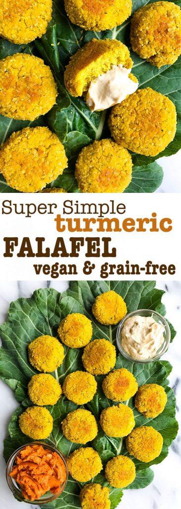 Super Simple Turmeric Falafel that is vegan and grain-free!