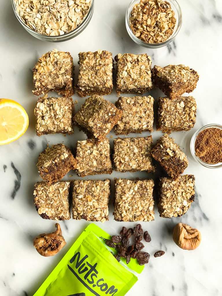 Triple Layer Oatmeal Fig Bars that are gluten free, vegan and DREAMY!