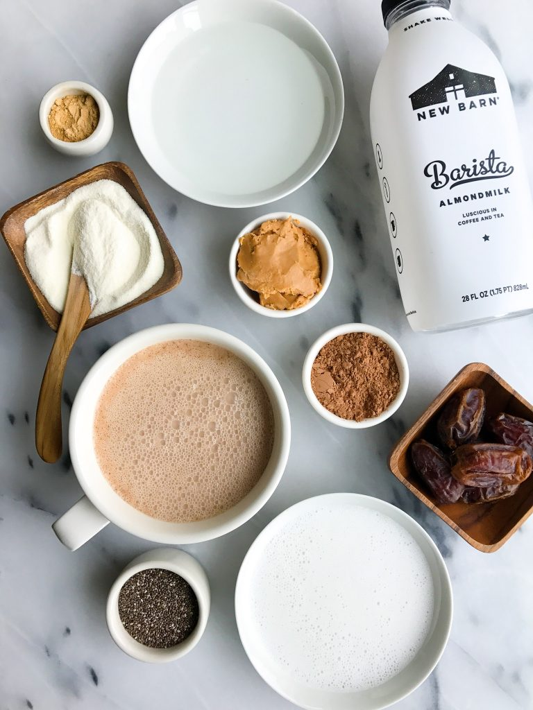 Magical No-Coffee Cacao Collagen Latte made with nourishing and delicious ingredients