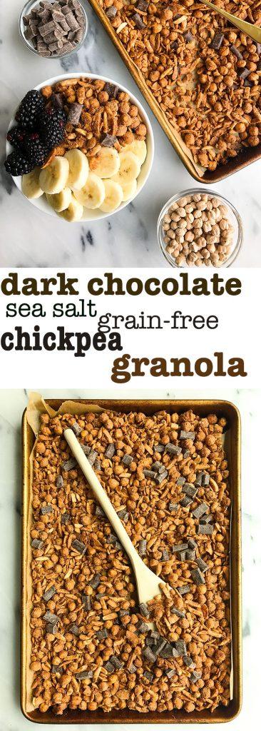 Dark Chocolate Sea Salt Grain-free Chickpea Granola