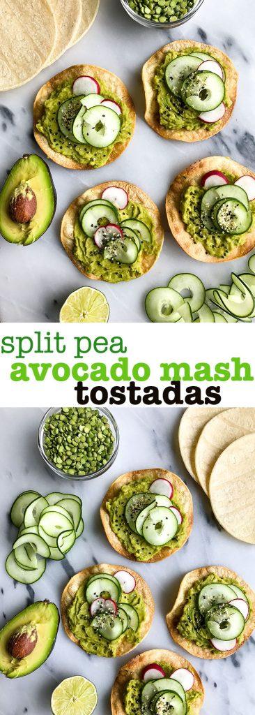 Split Pea Avocado Mash Tostadas