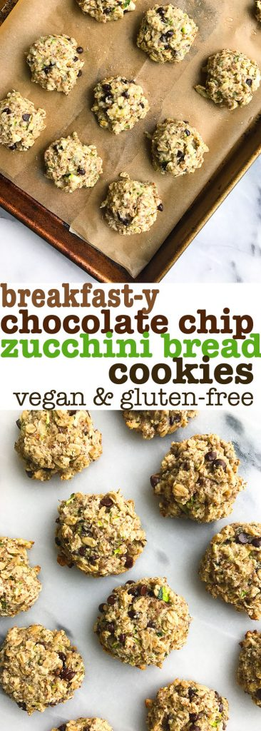 Breakfast-y Chocolate Chip Zucchini Bread Cookies (vegan)