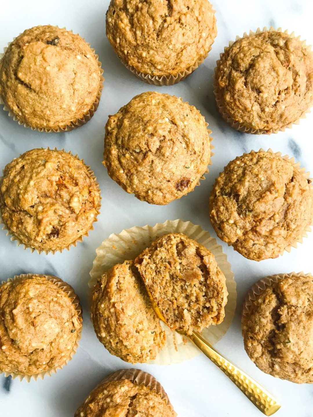 Healthy Bakery-Style Carrot Cake Muffins that are gluten and dairy-free!