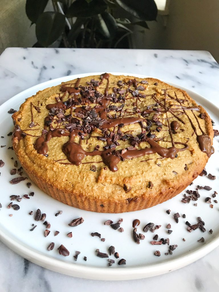 Doughy Paleo Chocolate Chip Cookie Cake