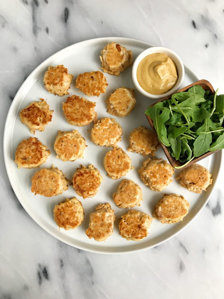 4-ingredient Mini Tuna Cakes that are Whole30, gluten-free and healthy ingredients!