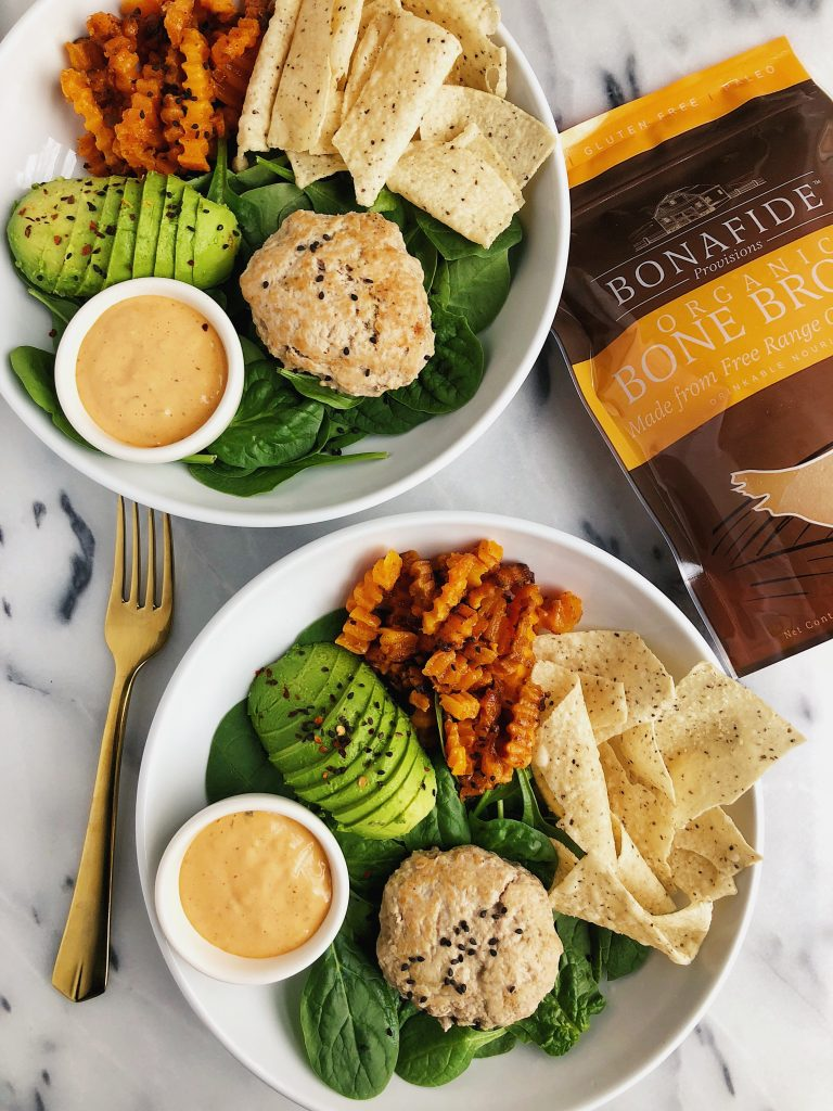 Skillet Turkey Burgers made with Bone Broth for an easy paleo, egg-free and whole30-friendly meal!