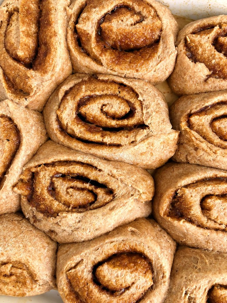 Healthy Vegan Cinnamon Rolls