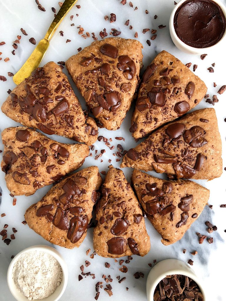 6-ingredient Vegan Chocolate Scones (gluten-free)