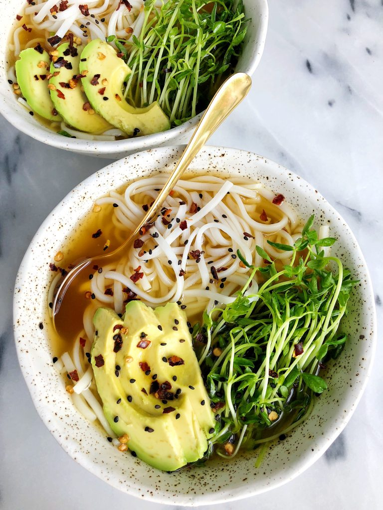 Homemade Bone Broth Ramen Bowls made with all gluten-free and dairy-free ingredients for an easy and delicious homemade ramen recipe!