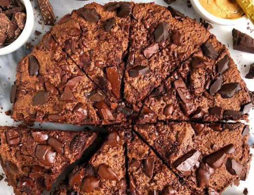 Paleo Deep Dish Double Chocolate Chunk Brownies made with all gluten-free, grain-free and dairy-free ingredients for an epic brownie recipe!