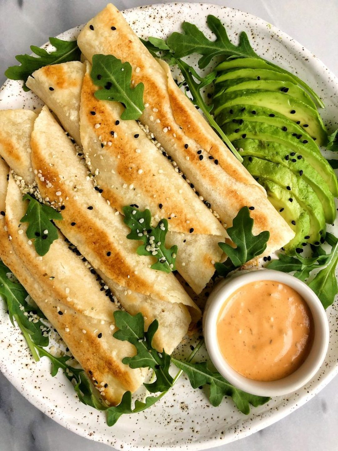 10-minute Spicy Salmon Taquitos made with all gluten-free and grain-free ingredients for a quick, easy and healthy lunch or dinner idea!