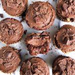Healthy Double Chocolate Pumpkin Cupcakes (vegan + paleo)
