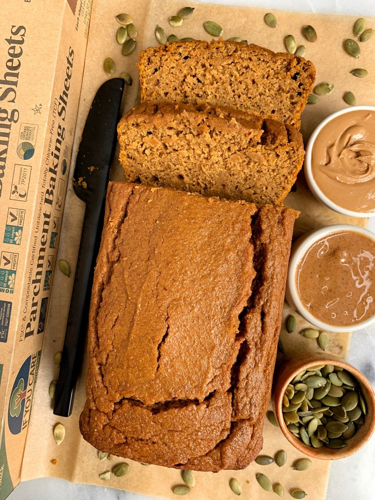 The Best Gluten-free Pumpkin Bread made with healthy and simple ingredients for the easiest dairy-free, refined sugar-free pumpkin bread ever!