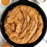 Giant Gluten-free Cinnamon Roll (no yeast + refined sugar-free)