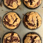chocolate peanut butter banana muffins
