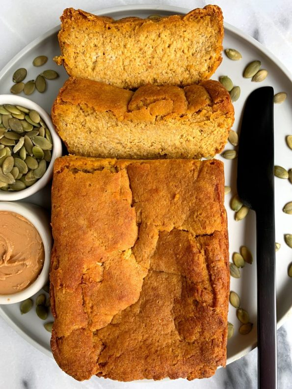 The Easiest Almond Flour Pumpkin Bread made with all vegan and paleo ingredients for a simple and healthy pumpkin loaf.