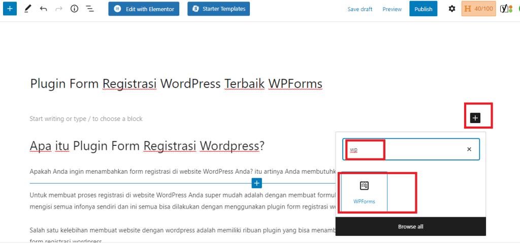 plugin form register wordpress