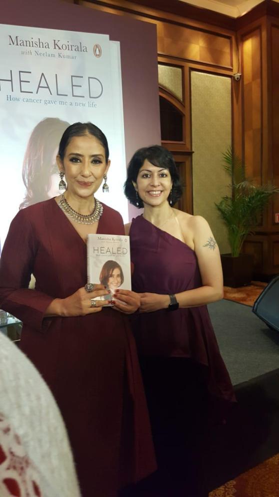 Rachna Chhachhi with Manisha Koirala