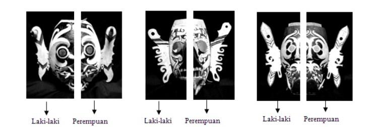 Penjabaran Analisis Unsur Dualisme pada topeng tari Hudoq (Sumber: Fauzia Latif)