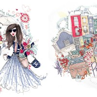 I spy with my little eye... the gorgeous artwork of Miss Magpie Fashion Spy