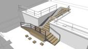 Návrh bezbariérového schodiska v Obecnej záhrade od štúdia Ateliér van jarina.