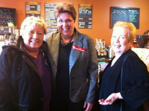 Democratic state Sen. Kathleen Vinehout, seen here in a visit to Mount Pleasant in 2012, is mulling a run for governor.