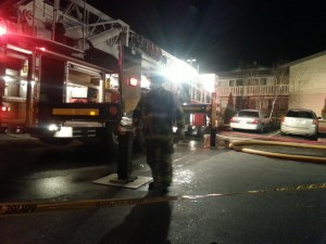Firefighters from multiple jurisdictions responded to an apartment fire at 4020 North Main Street at 8:11 p.m.