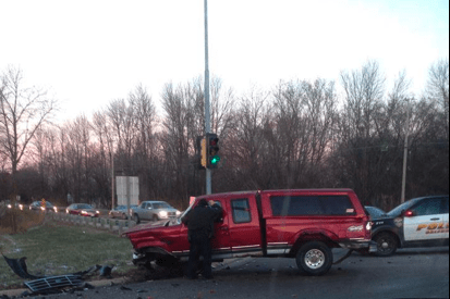 Two-Car Crash Reported At Highway 38 And 7 Mile Road