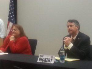 Janice Hand (left) and John Dickert are both running for mayor. Dickert is the incumbent.