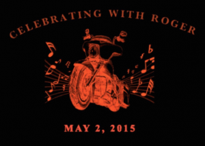 Celebrating with Roger t-shirt