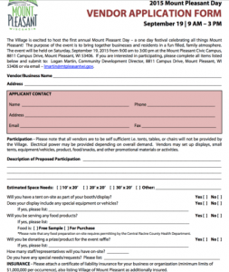 Mount Pleasant Day Application