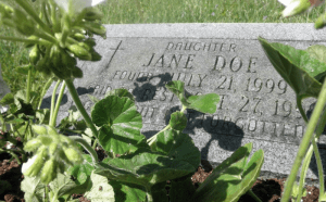 Racine County Jane Doe grave