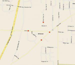 Burglary Map South Area