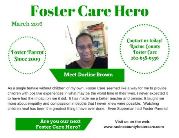 Racine County Foster Care Hero