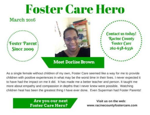 Racine County Foster Care Hero