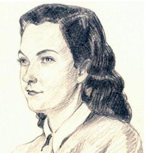 Sketch of Bess Schimek