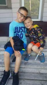Fourth-grader Gavin Gain starts school this week and Jaeden Gain starts 4k next week. (Photo by Amanda Gain)