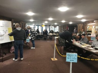 Voting at Lutheran Church of the Ressurection