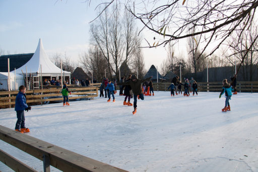 Ice rink outdoors