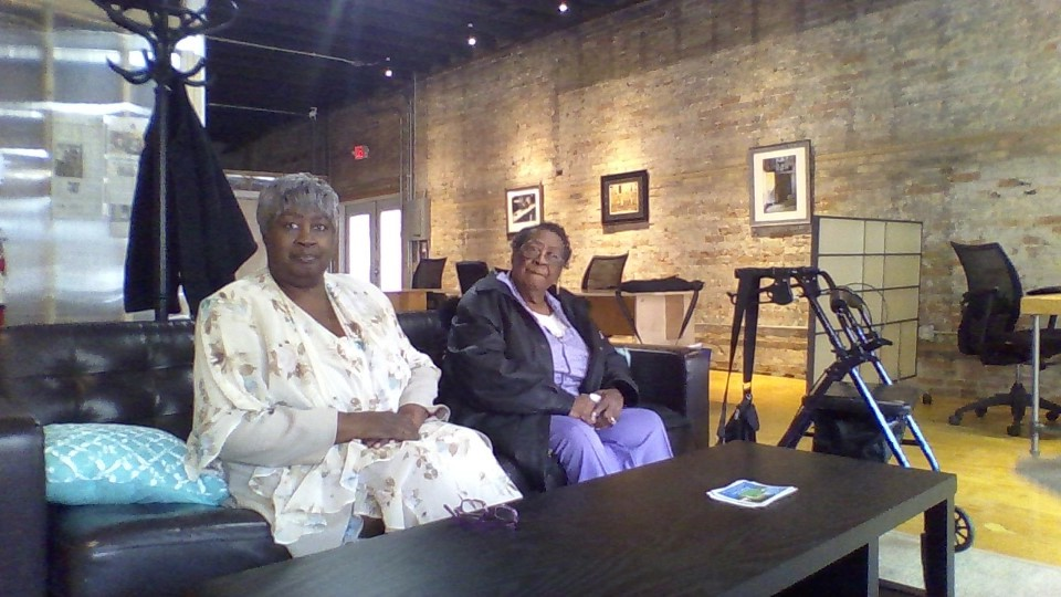 Poncella Risiner (right) turned 90 today.